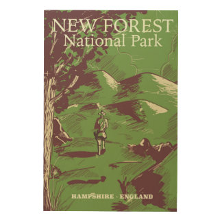 Nuevo bosque, Hampshire, Inglaterra Impresión En Madera