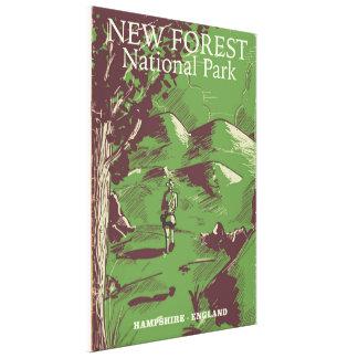 Nuevo bosque, Hampshire, Inglaterra Lienzo