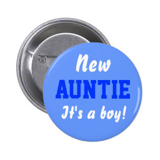 Nuevo botón del bebé del muchacho de la tía pin