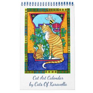 Calendarios Nuevo calendario del arte del gato por los gatos