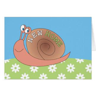 Nuevo caracol lindo casero en tarjetas de