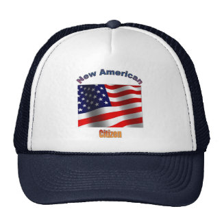 Nuevo ciudadano americano gorro de camionero