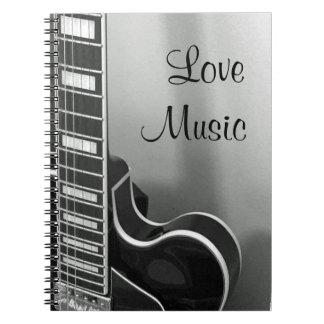 NUEVO cuaderno adaptable de la música del amor