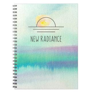 Nuevo cuaderno de Corporate Logo de la acuarela de