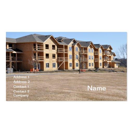 nuevo edificio del condominio bajo construcción plantillas de tarjetas de visita