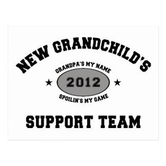 Nuevo equipo de ayuda del nieto 2012 tarjeta postal