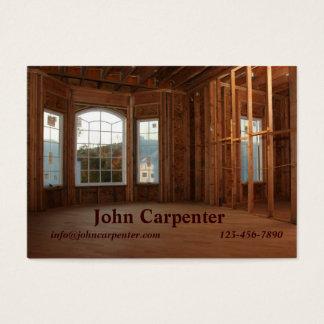 Nuevo hogar bajo construcción tarjeta de negocios