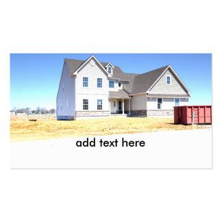 nuevo hogar bajo construcción tarjetas de visita