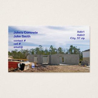 nuevo hogar del bloque de cemento tarjeta de visita