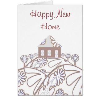 Nuevo hogar feliz tarjeta de felicitación