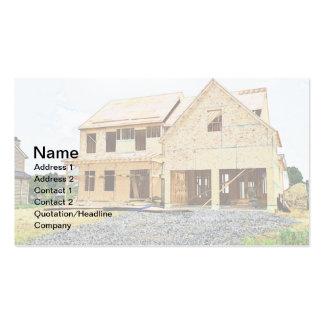 nuevo hogar unifamiliar bajo construcción tarjeta personal