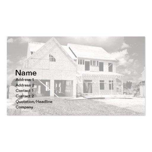 nuevo hogar unifamiliar bajo construcción tarjetas de negocios