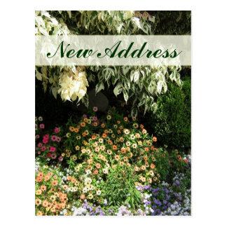 Nuevo jardín de flores de la dirección postal