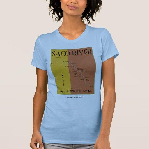 nuevo jersey del mapa del río del saco camiseta