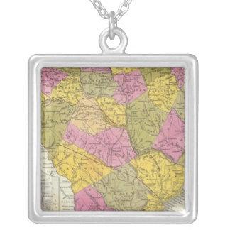 Nuevo mapa de Carolina del Sur Collar Plateado