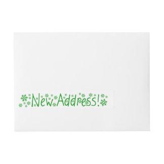Nuevo navidad del copo de nieve de la dirección pegatinas postales
