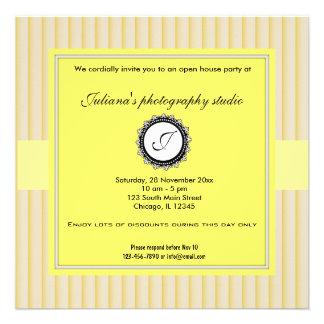 Nuevo negocio de la casa abierta invitaciones personales