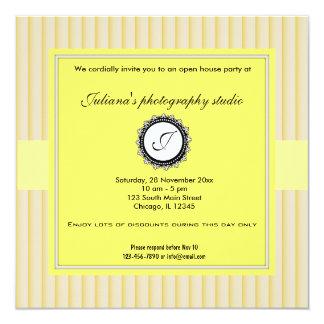 Nuevo negocio de la casa abierta invitación 13,3 cm x 13,3cm