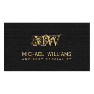 Nuevo negro de oro papel rugoso tarjetas de visita