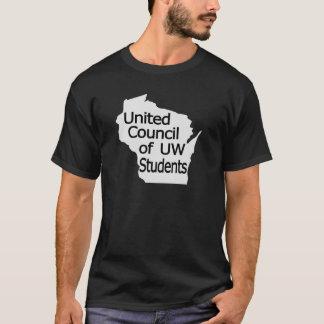 Nuevo negro unido del logotipo del consejo en gris camiseta