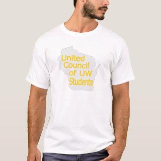 Nuevo oro unido del logotipo del consejo en gris camiseta