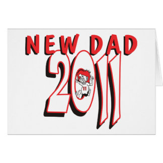 Nuevo papá 2011 tarjeta