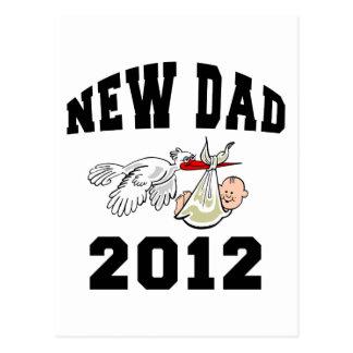 Nuevo papá 2012 tarjeta postal
