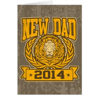 Nuevo papá 2014 tarjeta de felicitación