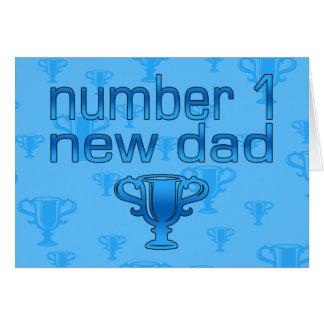 Nuevo papá del número 1 tarjeta pequeña