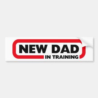 Nuevo papá en el entrenamiento - pegatina para el pegatina para coche