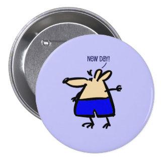 Nuevo ratón de la diversión del día en insignia chapa redonda de 7 cm