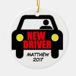 Nuevo recuerdo de la licencia de conductores adorno redondo de cerámica