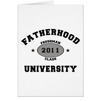 Nuevo regalo del padre 2011 tarjeta de felicitación