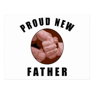 Nuevo regalo orgulloso del padre postal