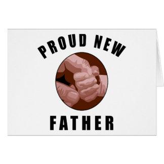 Nuevo regalo orgulloso del padre tarjeta de felicitación