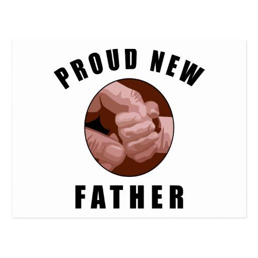 Nuevo regalo orgulloso del padre postales