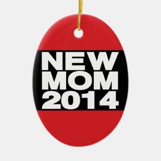 Nuevo rojo 2014 de LG de la mamá Adorno Ovalado De Cerámica