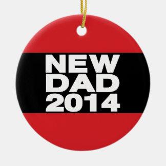 Nuevo rojo 2014 de LG del papá Adorno Navideño Redondo De Cerámica