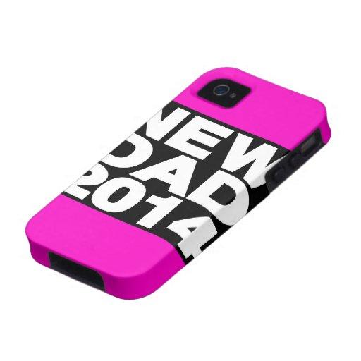 Nuevo rosa 2014 de LG del papá Vibe iPhone 4 Funda