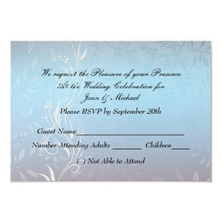 Nuevo RSVP que se casa azul Invitacion Personal