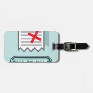 Nuevo vector del icono del botón de la orden etiquetas para maletas