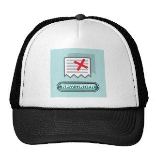 Nuevo vector del icono del botón de la orden gorra