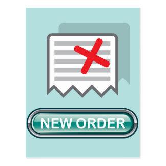 Nuevo vector del icono del botón de la orden postal