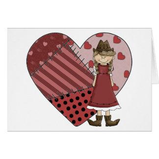 Nuevos botas y corazón - espacio en blanco tarjeta de felicitación