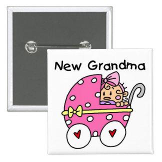 Nuevos camisetas y regalos de la abuela de la niña pins
