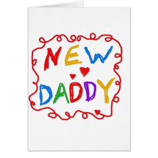 Nuevos camisetas y regalos del papá de los colores tarjeta de felicitación