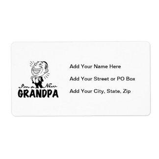 Nuevos camisetas y regalos sonrientes del abuelo etiqueta de envío