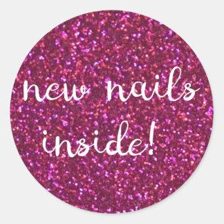 ¡nuevos clavos dentro! falso pegatina rosado del