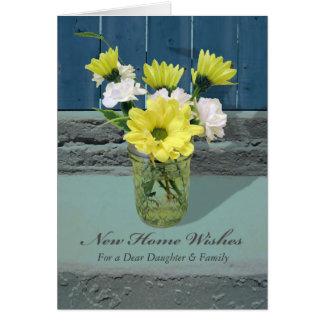 Nuevos deseos del hogar para la hija y el yerno tarjeta de felicitación