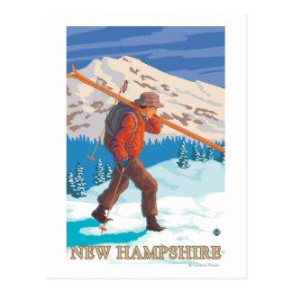 Nuevos esquís que llevan de HampshireSkier Postal
